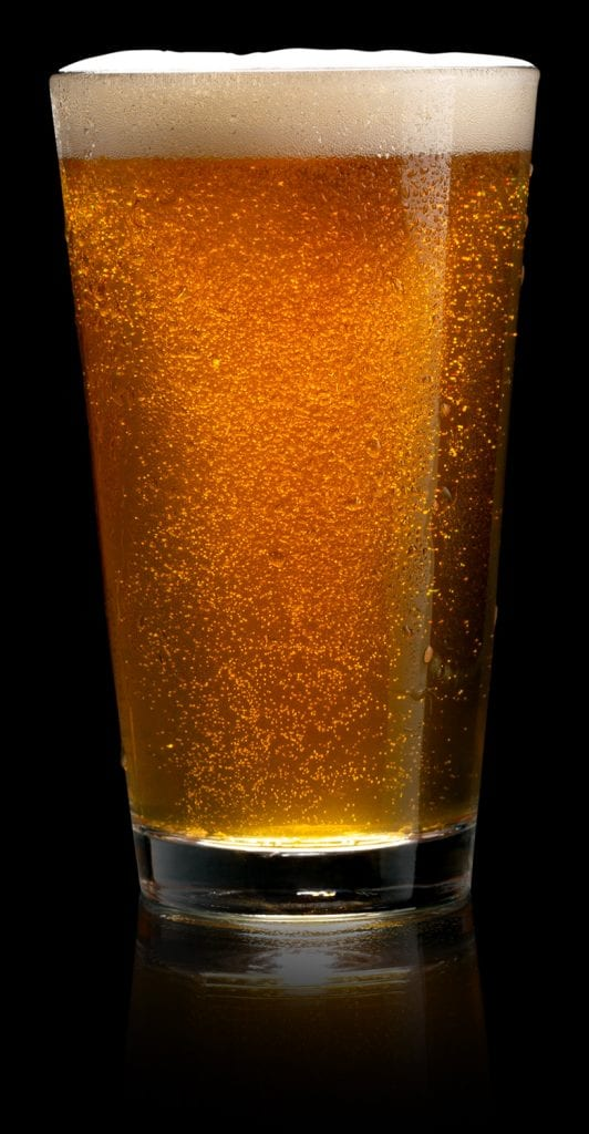 A glass of Five and 20 beer with reflection for homepage - Image Link